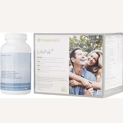 Pharmanex LifePak® Balíček 60 sáčků + Marine Omega  120 cps