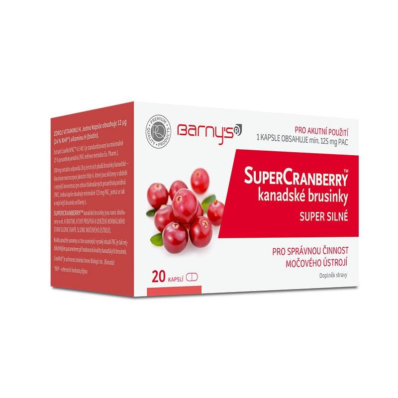 Barnys SuperCranberry™ kanadské brusinky SUPER SILNÉ 20 kapslí