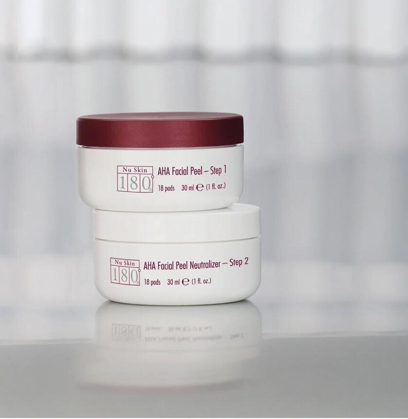 Nu Skin 180® AHA Facial Peel and Neutraliser - obličejový peeling proti pigmentovým skvrnám a vráskám 2x50ml