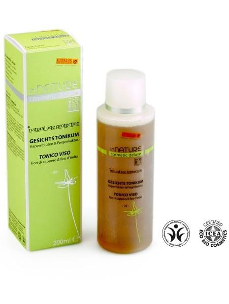 VITALIS BIO obličejové tonikum inNature (200 ml) - pro suchou a citlivou pokožku s opuncií a květy kapary