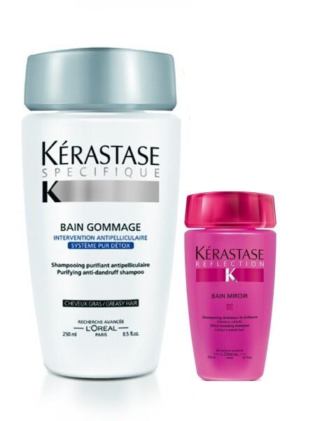 K rastase specifique bain gommage gras tester ampon for Kerastase bain miroir
