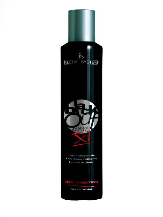 Kléral Black Out XI Directional hairspray AKCE 2+1 ZDARMA - Profesionální lak na vlasy s pružnou fixací 300 ml