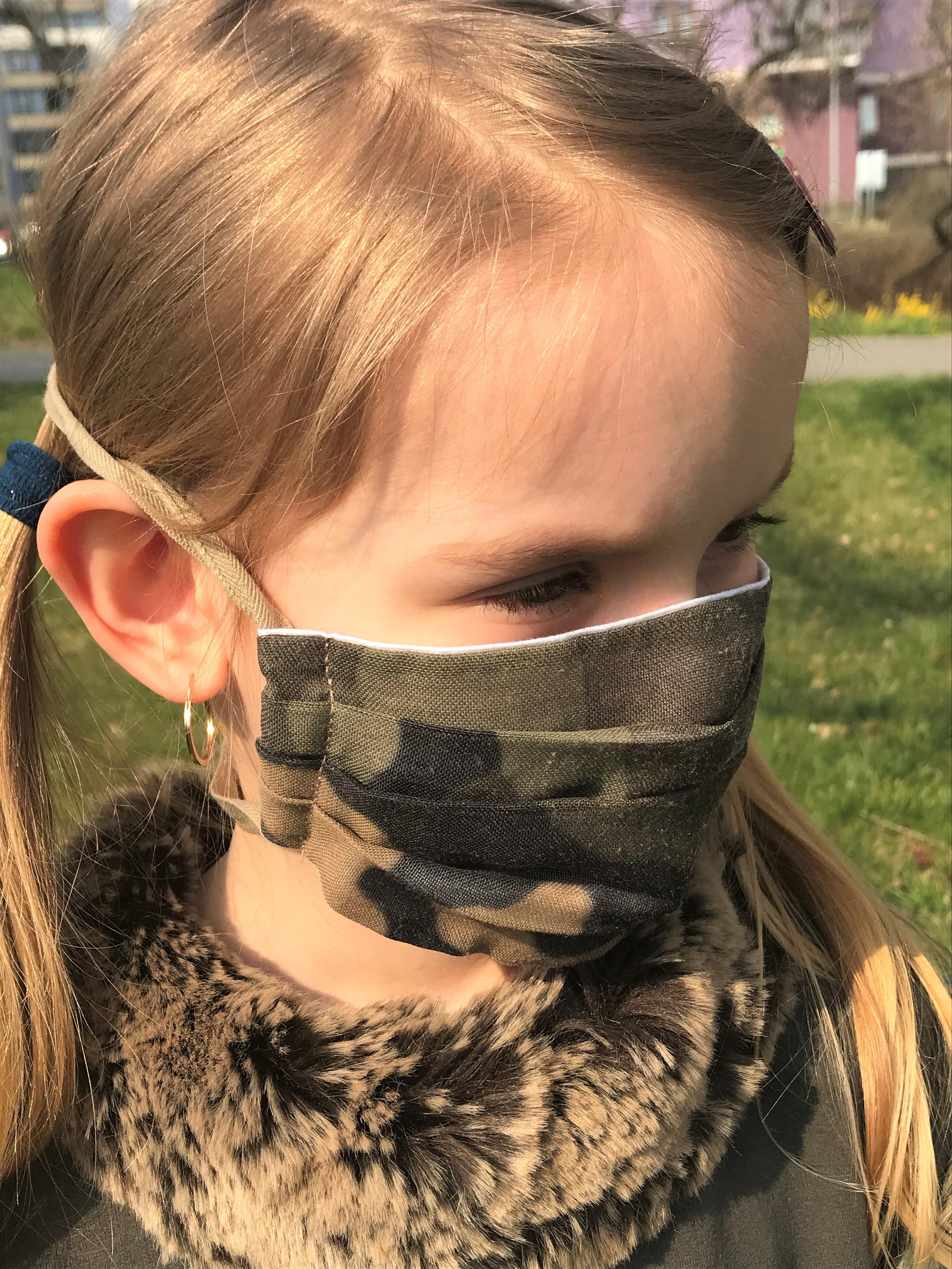 Rouška dětská maskáčový vzor