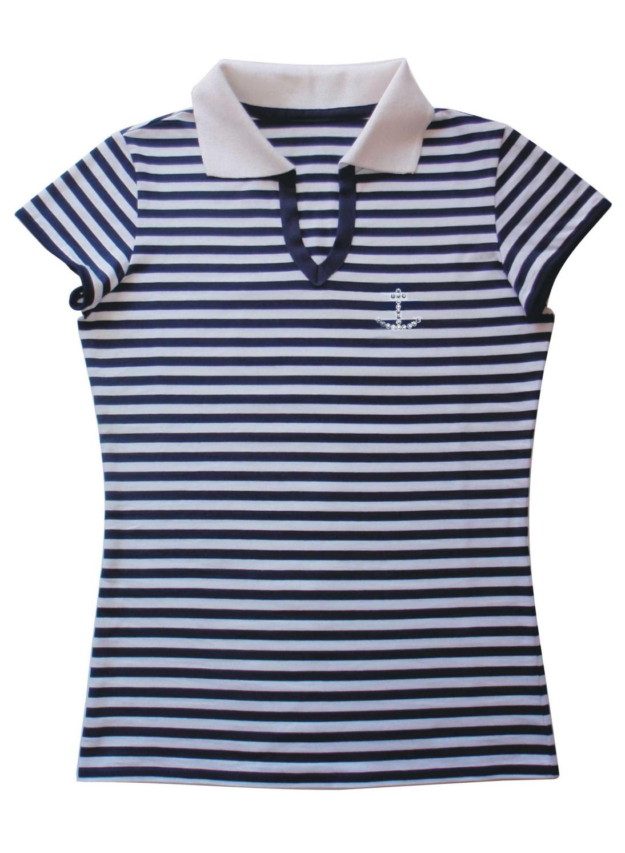 d78879716fb Námořnické POLO tričko pruhované s kotvou Swarovski -- Zboží-móda.cz