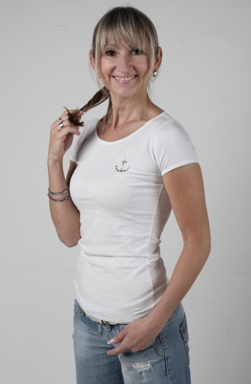 Tričko s kotvou Swarovski